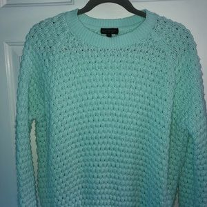 Topshop mint green sweater size 8